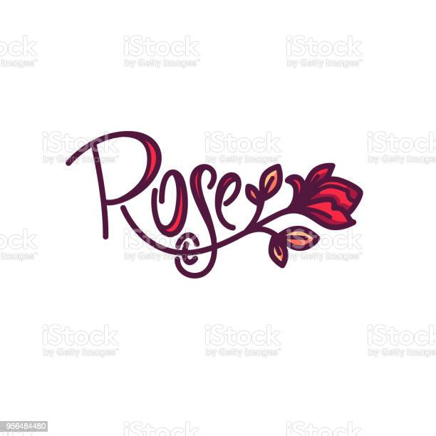 Simple line art doodle rose flower logo with lettering composition vector id956484480?b=1&k=6&m=956484480&s=612x612&h=rgzfglpvipbp1owih62eugsqvvrfgqssnuax5petu1c=
