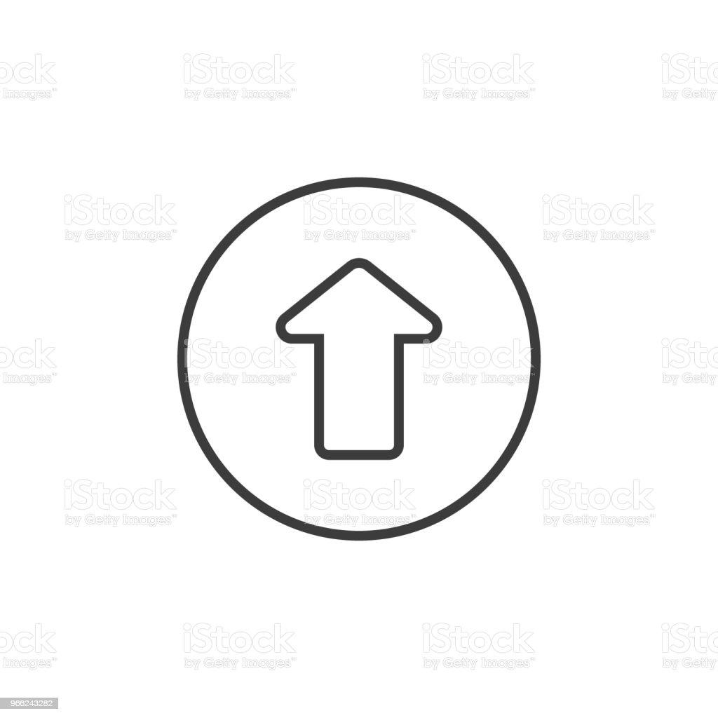 Ilustración de Arte De Línea Simple Para Arriba Del Icono De Flecha ...