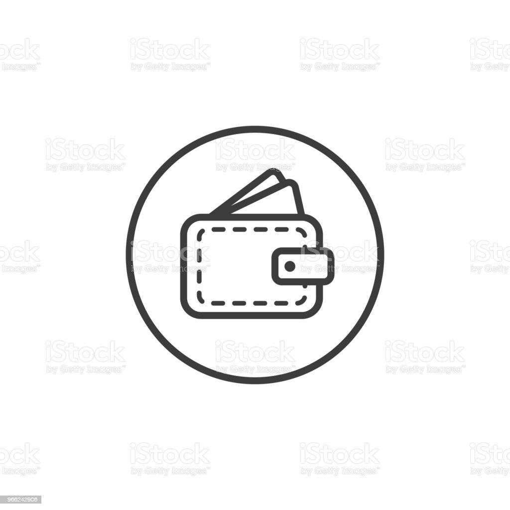 Einfache Linie Kunst Brieftasche Symbol In Einem Runden Rahmen Stock ...