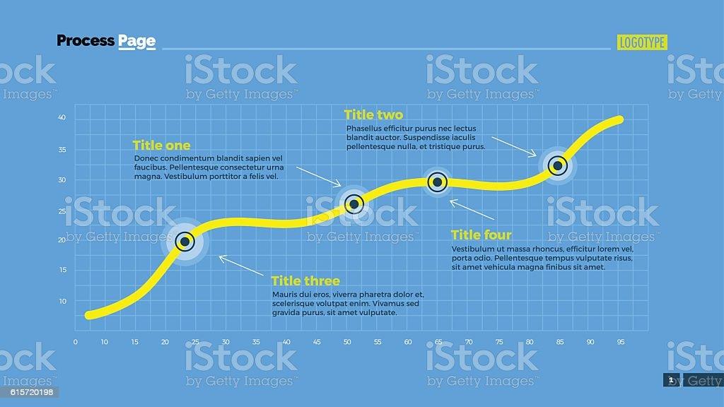 Simple Line Chart Slide Template