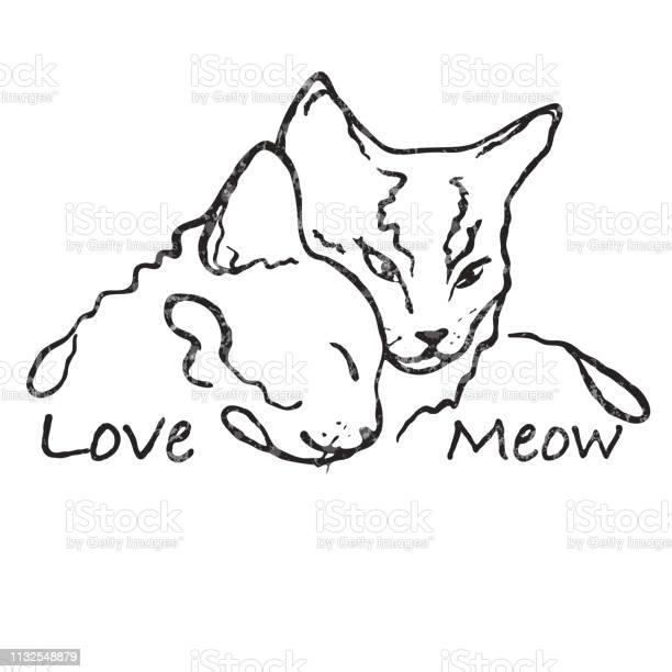 Simple line design two cute cats together love vector id1132548879?b=1&k=6&m=1132548879&s=612x612&h=n99aks2kco1m5xhqttq7ehzudcc 07ui1prd g4jves=