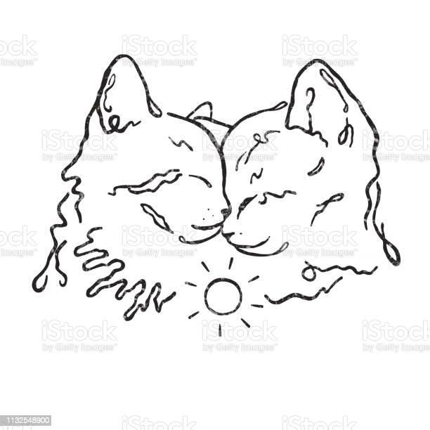 Simple line design two cute kittens together love vector id1132548900?b=1&k=6&m=1132548900&s=612x612&h=wzjjytmxyh4kqtzck urrpvdr7ezx5fkxyimmscpgge=