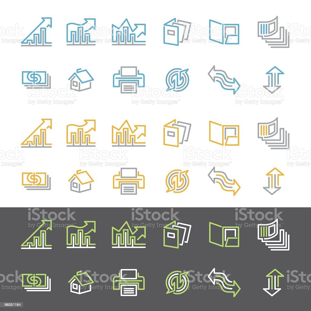 Simple Line Financial Icon Set royalty-free simple line financial icon set stock vector art & more images of arrow symbol