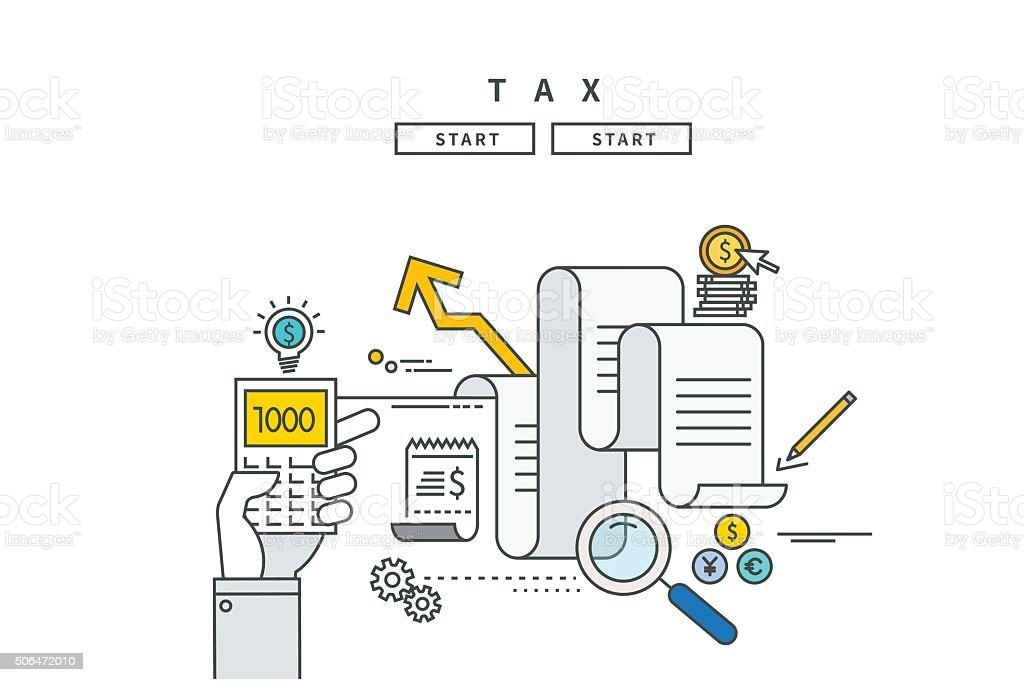 Lignes simples à des taxes, design moderne de vector illustration - Illustration vectorielle