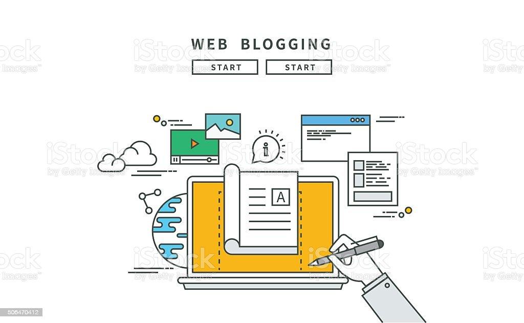 Lignes simples, à la conception de web, blogs, moderne vector illustration - Illustration vectorielle