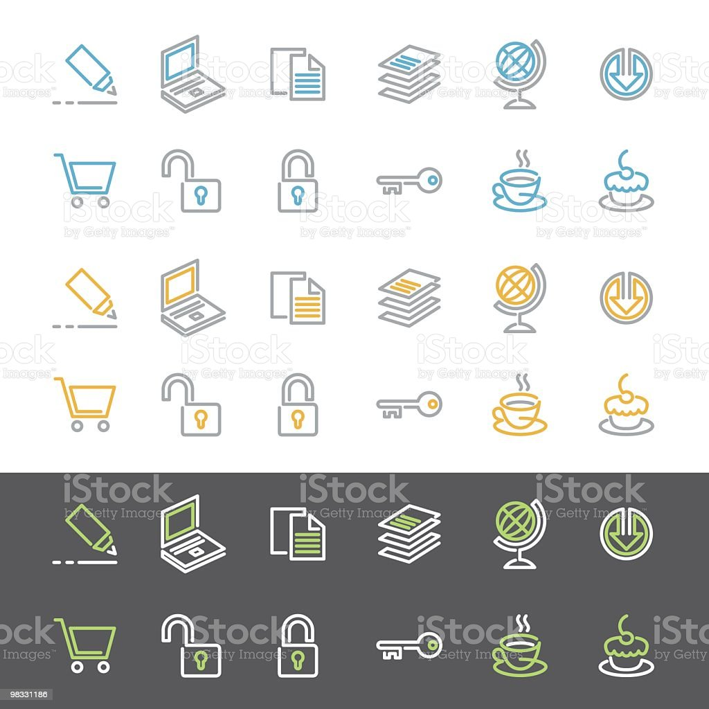 Simple Line Icon Set royalty-free simple line icon set stock vector art & more images of arrow symbol