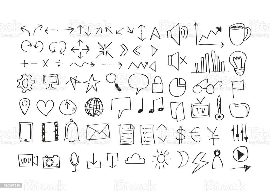 Simple line icons Thin web Icons vector art illustration