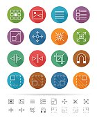 Simple line style : Graphic user interface element icons set 1