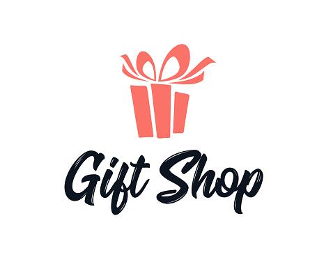Simple Logo Illustration For Gift Shop Logo Design Emblem Design Concept Stock Illustration Download Image Now Istock