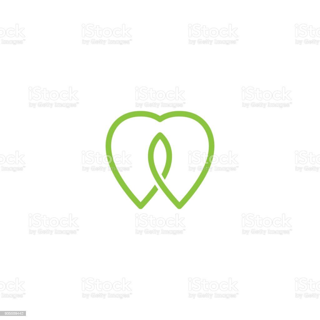 Ilustração De Projeto De Conceito De Vector Dental Simples Amor E