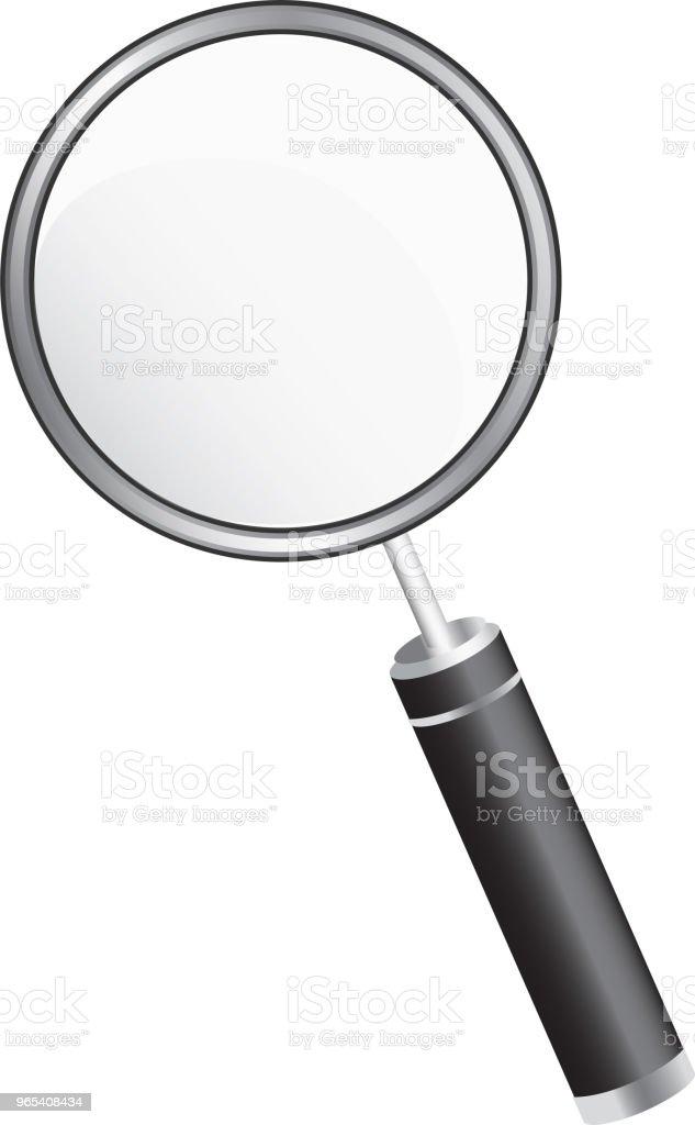 흰색 배경에서 간단한 돋보기 - 로열티 프리 3차원 형태 벡터 아트