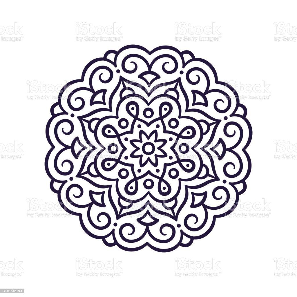 Simple Mandala ornament vector art illustration