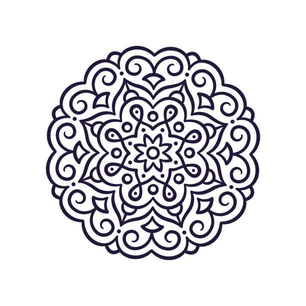 簡單的曼荼羅裝飾 - 伊斯蘭教 幅插畫檔、美工圖案、卡通及圖標