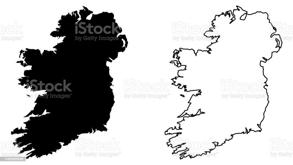 Carte Irlande Simple.Carte Simple Irlande Projection De Mercator Rempli Et