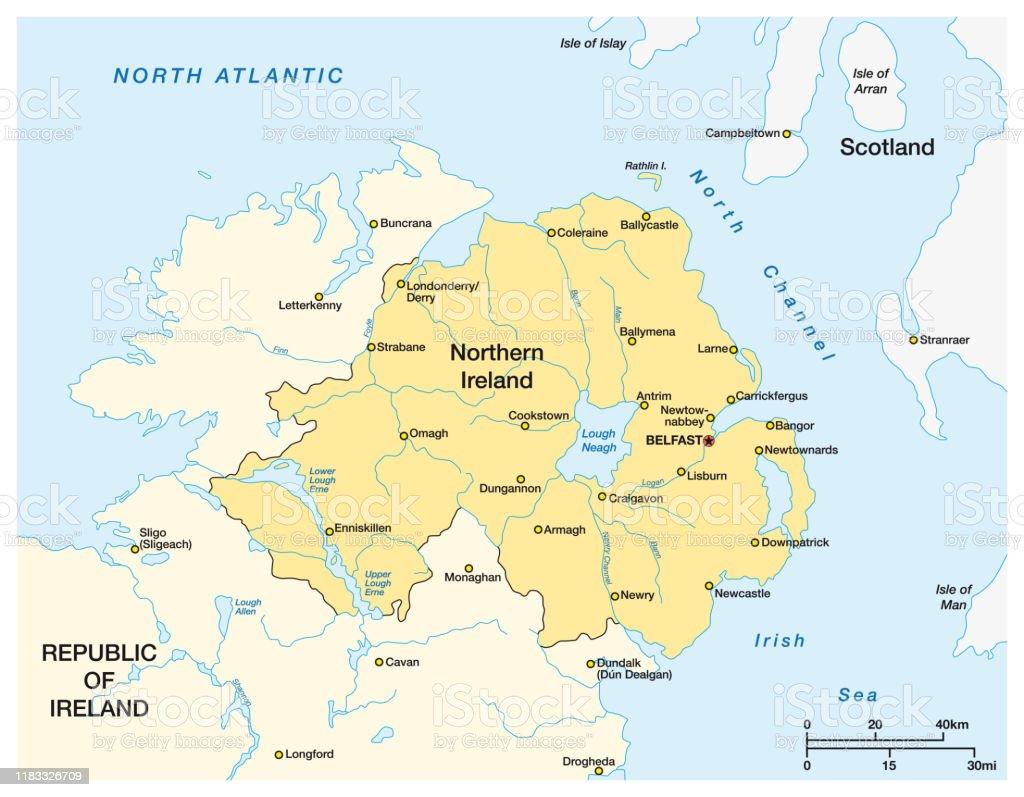 Irlanda Del Nord Cartina Geografica.Mappa Semplice Dellirlanda Del Nord E Della Parte Settentrionale Della Repubblica Dirlanda Immagini Vettoriali Stock E Altre Immagini Di Arancione Istock