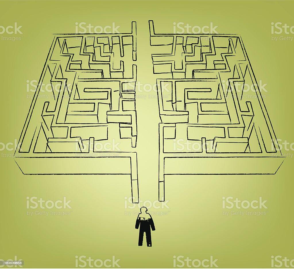 simple maze royalty-free stock vector art