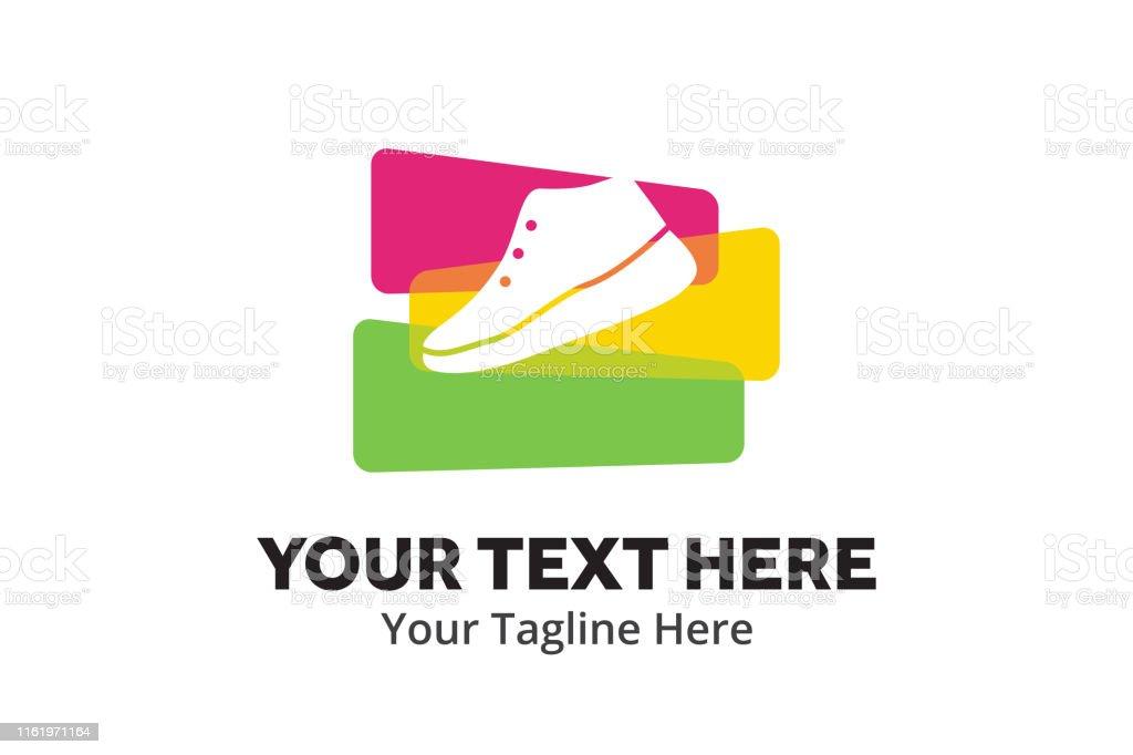 Ilustración de Simple Hombres Zapatos Logotipo Diseño