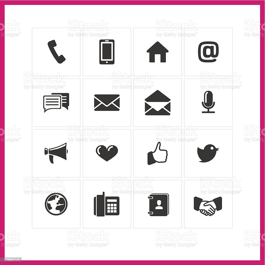 Simple minimalist communication icons royalty-free stock vector art