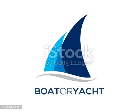 istock simple modern boat yacht mainsail intersect with ocean water wave bellow 1284339251