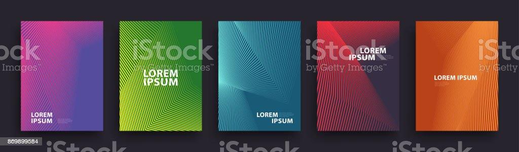 Modèle simple de couvertures moderne Design - Illustration vectorielle