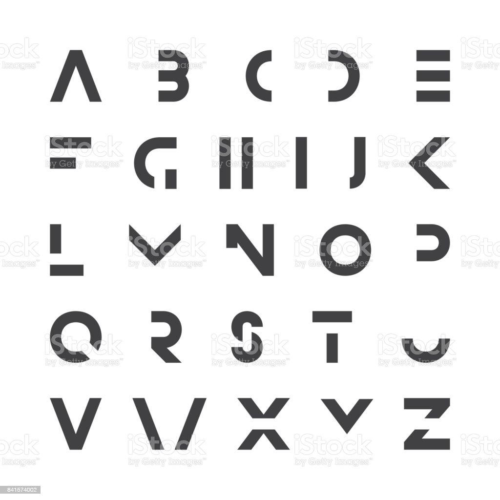 Einfache Moderne Schrift Minimalistische Englischen Alphabet