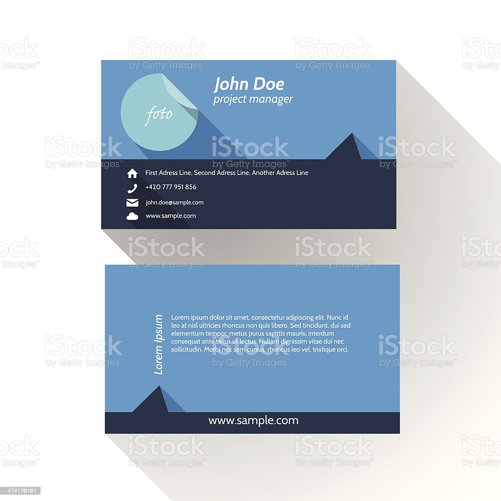 Simple Modern Light Business Card Template royalty-free stock vector art