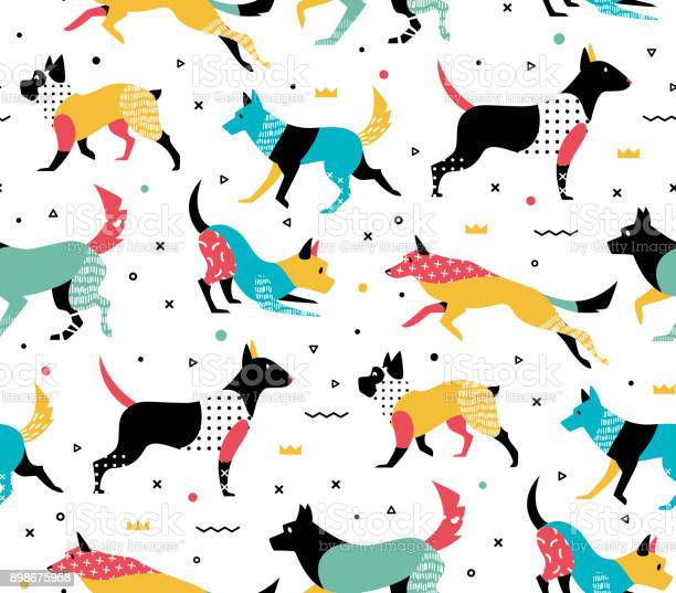 Simple modern pattern with dogs vector id898675958?b=1&k=6&m=898675958&s=612x612&h=n4wkyjdevwamu5zh toyzfz1jf68flg z7v9c dr940=
