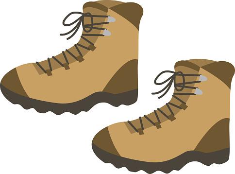 Simple mountain climbing shoes (trekking shoes)