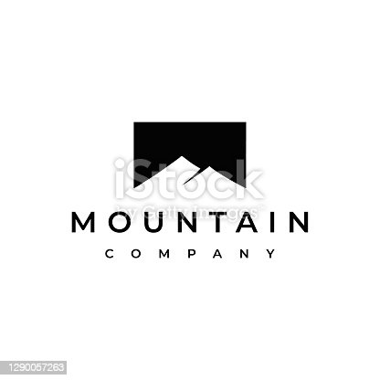 istock Simple Mountain Design Template 1290057263