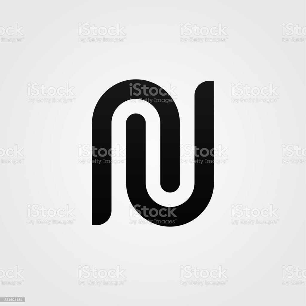 simple n letter sign vector design minimalistic icon royalty free
