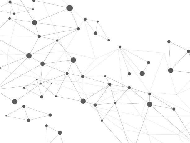 単純なネットワーク コンセプト - ネットワーク点のイラスト素材/クリップアート素材/マンガ素材/アイコン素材