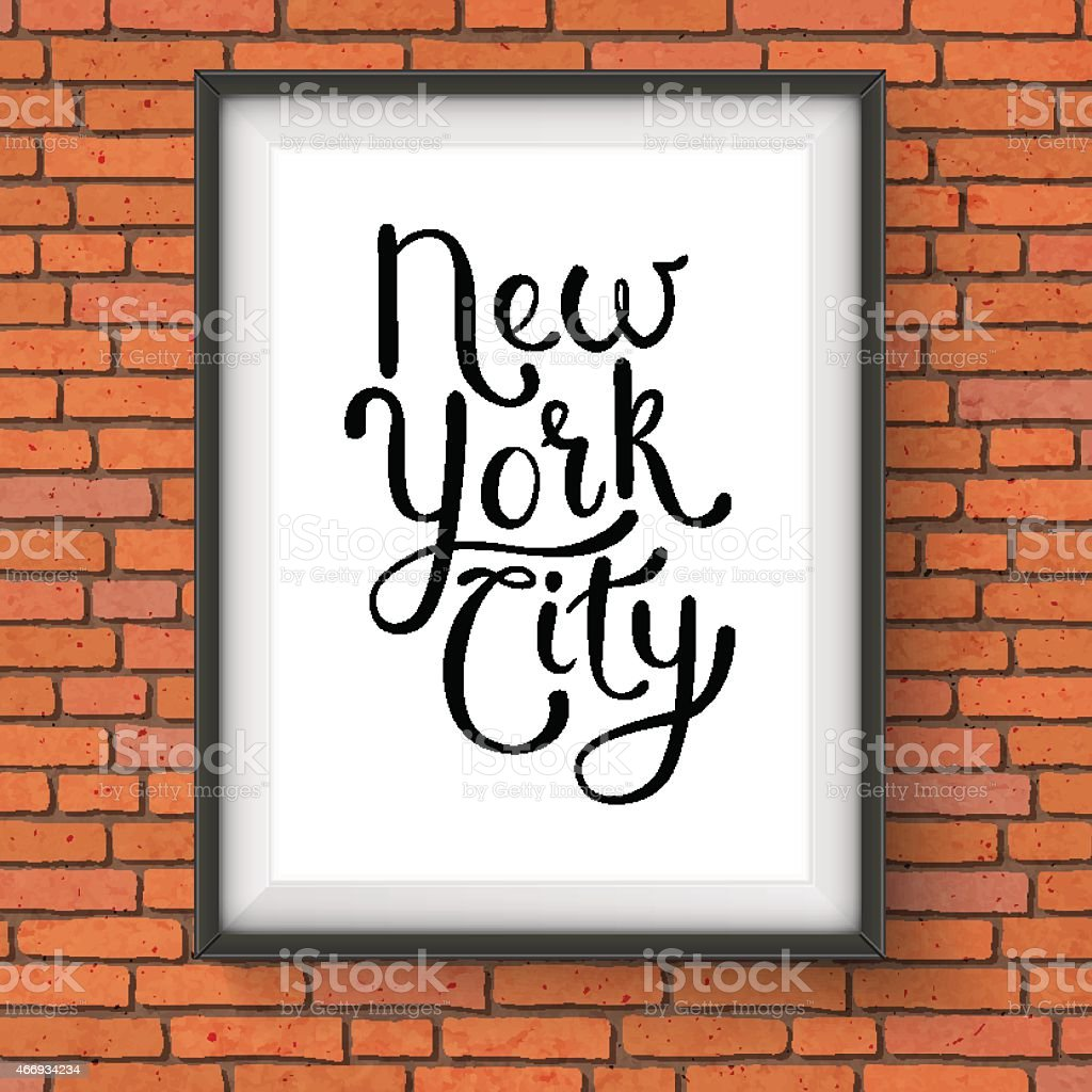 Simple New York City Concept On A Hanging Frame Stock Vector Art ...