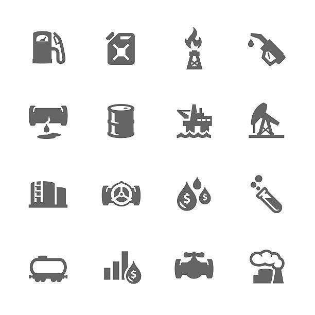 stockillustraties, clipart, cartoons en iconen met simple oil icons - radiobuis
