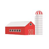 Simple Old Fashioned Red Barn