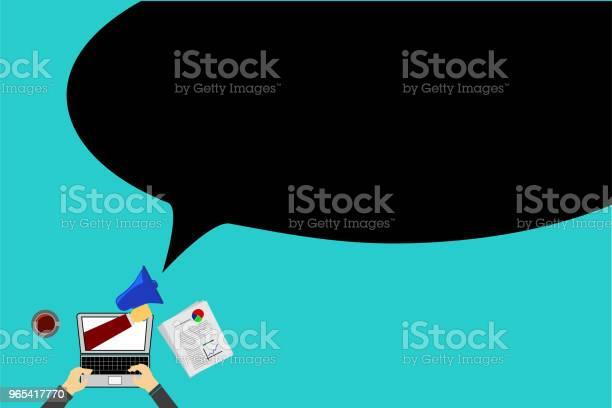 Proste Ogłoszenie Online - Stockowe grafiki wektorowe i więcej obrazów Bańka