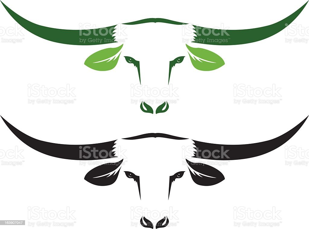 Simple Organic Beef icon Two Steer Heads isolated on white royalty-free simple organic beef icon two steer heads isolated on white stock vector art & more images of animal