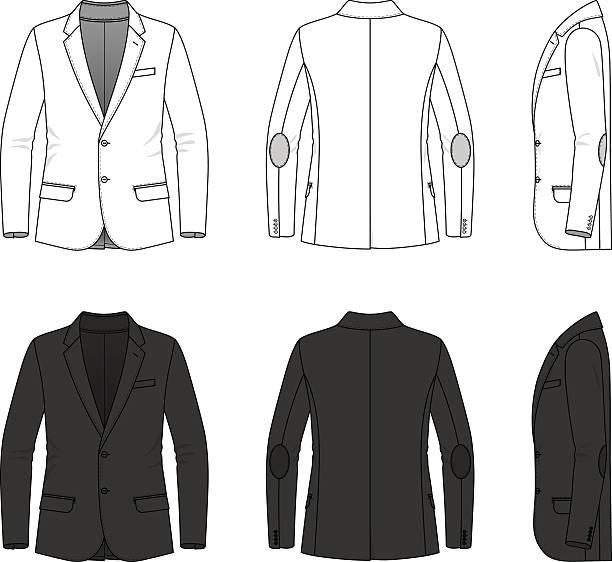 stockillustraties, clipart, cartoons en iconen met simple outline drawing of a blazer - men blazer