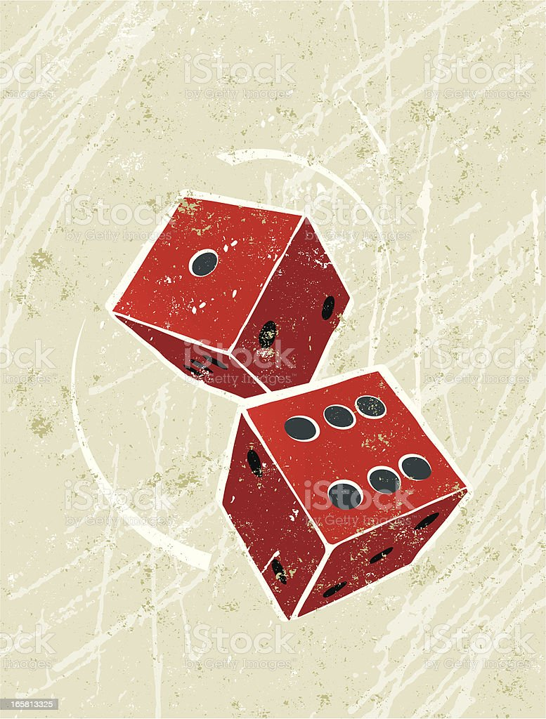 Simple Pair of Dice vector art illustration