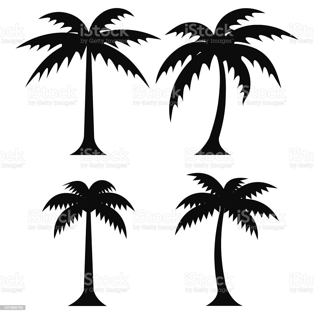 Vector Illustration Tree: Simple Palm Trees Vector Stock Vector Art & More Images Of
