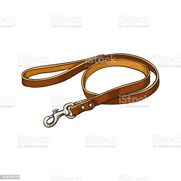 Simple pet cat dog brown leather leash with metal fastener vector id816296336?b=1&k=6&m=816296336&s=612x612&h=uhzwmix08bam6a ydsxsntjch mlt25ogvbujujfvks=