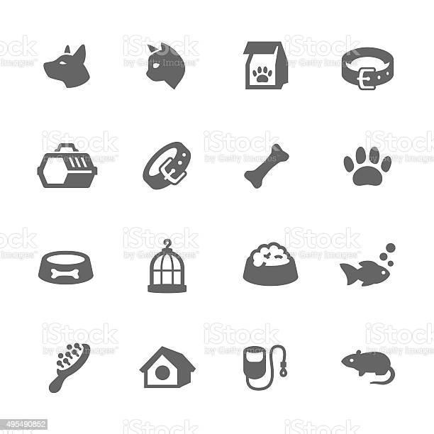 Simple pets icons vector id495490852?b=1&k=6&m=495490852&s=612x612&h=f8i4c1fokpnvsntb b2kf5wkjwfkhdmup5 ma6sjjwo=