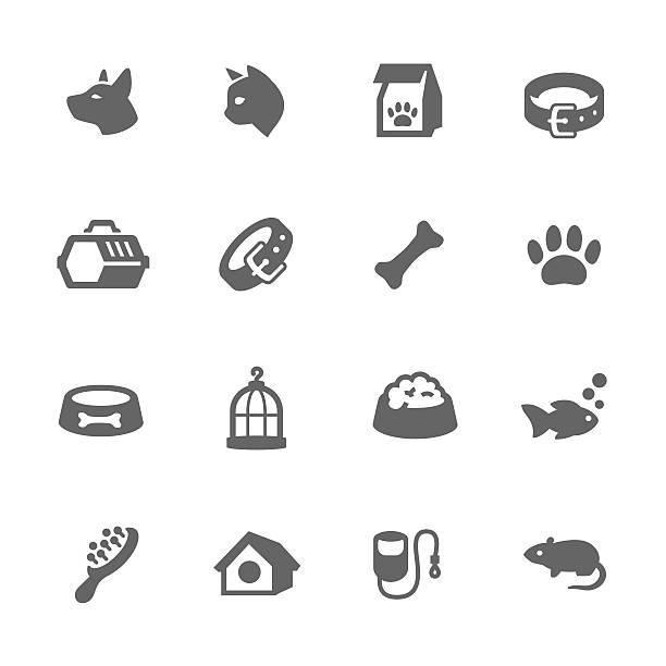 ilustrações de stock, clip art, desenhos animados e ícones de ícones simples de animais de estimação - dog food