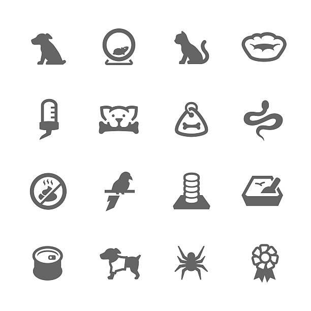 ilustrações de stock, clip art, desenhos animados e ícones de ícones simples de animais de estimação - lata comida gato