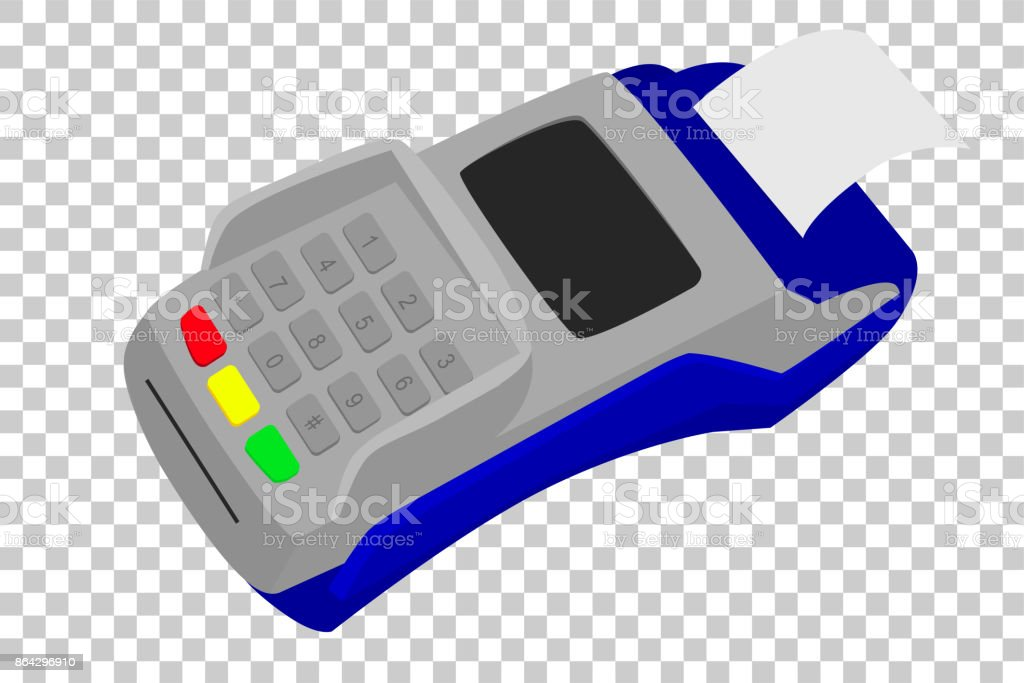 Simple Picture - EDC Machine with printed receipt, at Transparent Effect Background royalty-free simple picture edc machine with printed receipt at transparent effect background stock vector art & more images of atm