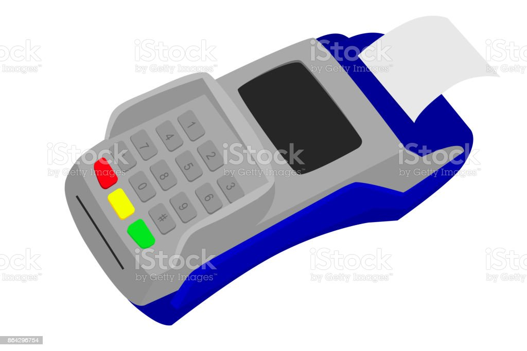 Simple Picture - EDC Machine with printed receipt royalty-free simple picture edc machine with printed receipt stock vector art & more images of atm