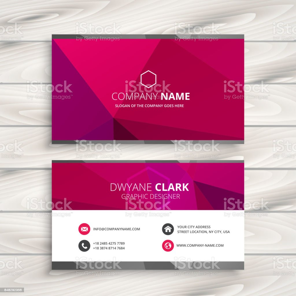 Simple pink business card template vector design illustration stock simple pink business card template vector design illustration royalty free simple pink business card template cheaphphosting Image collections