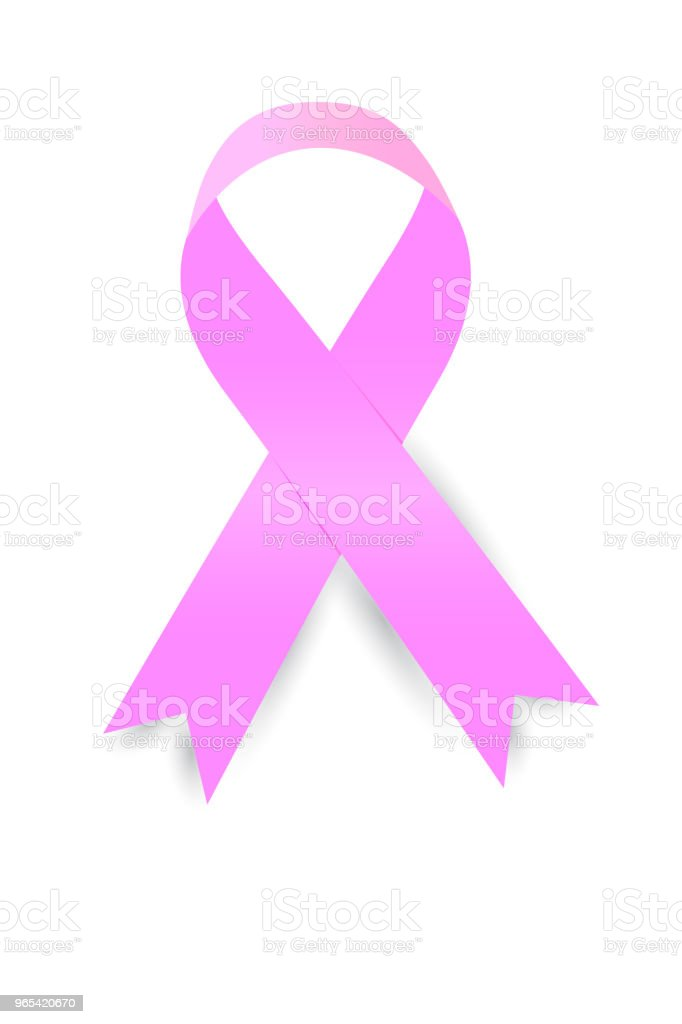 simple pink Ribbon royalty-free simple pink ribbon stock illustration - download image now