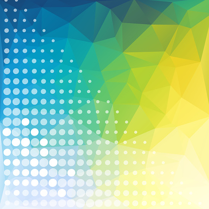 Simple Pixels Design With Colorful Background Stock Illustration - Download Image Now