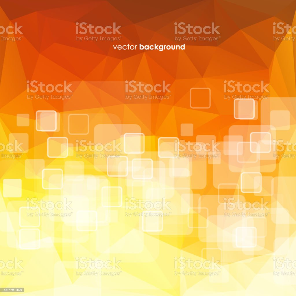 Simple Pixels Design With Orange Color Background Stock