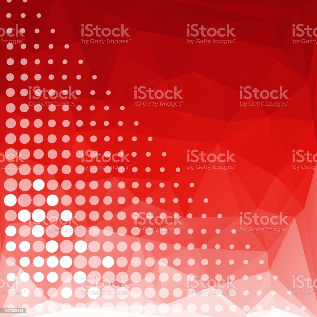 Einfache Pixel Design Mit Roter Farbe Hintergrund Stock Vektor Art ...